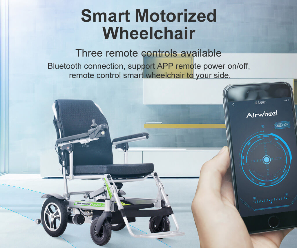 Airwheel H3PS Smart Ultra lightweight foldable portable electric wheelchair
