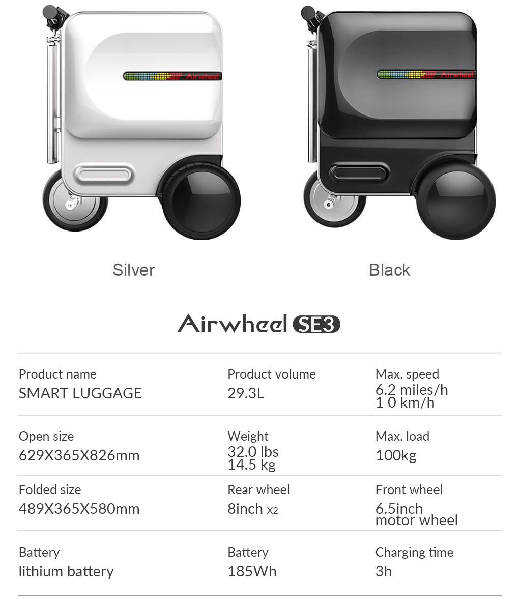 Airwheel SE3 Smart riding suitcase