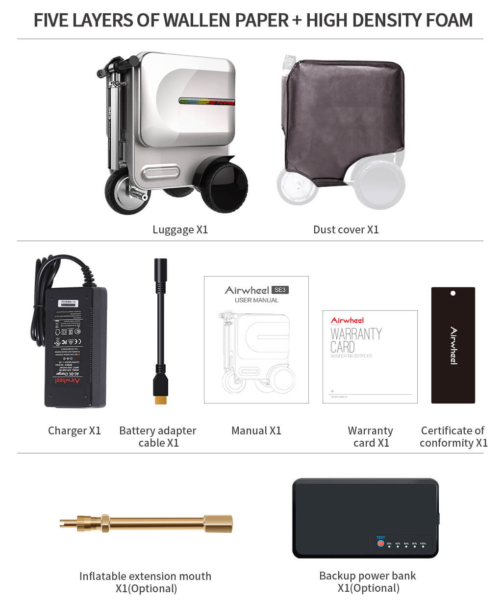 Airwheel SE3 intelligent scooter smart luggage