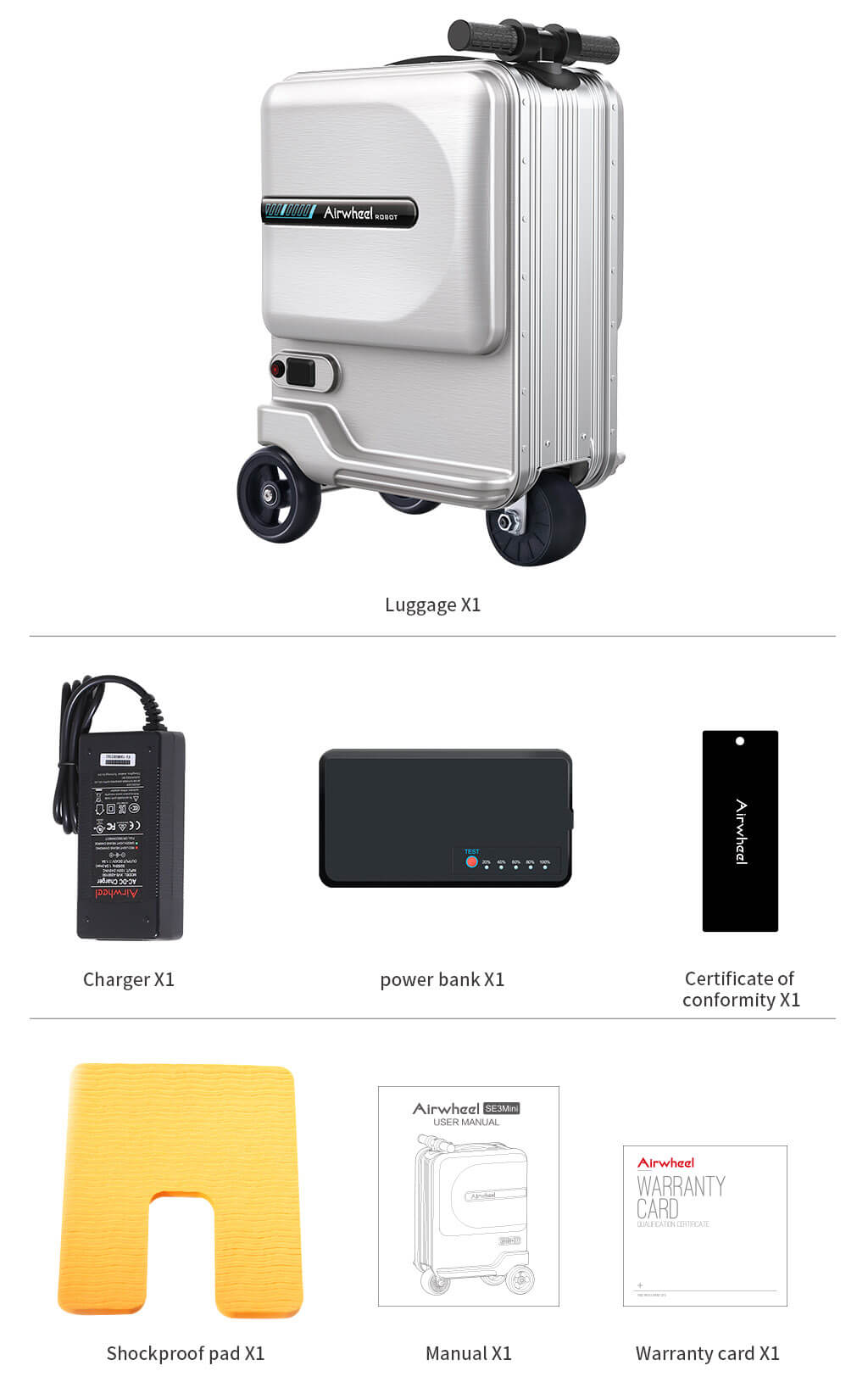 Airwheel SE3Mini carry on luggage