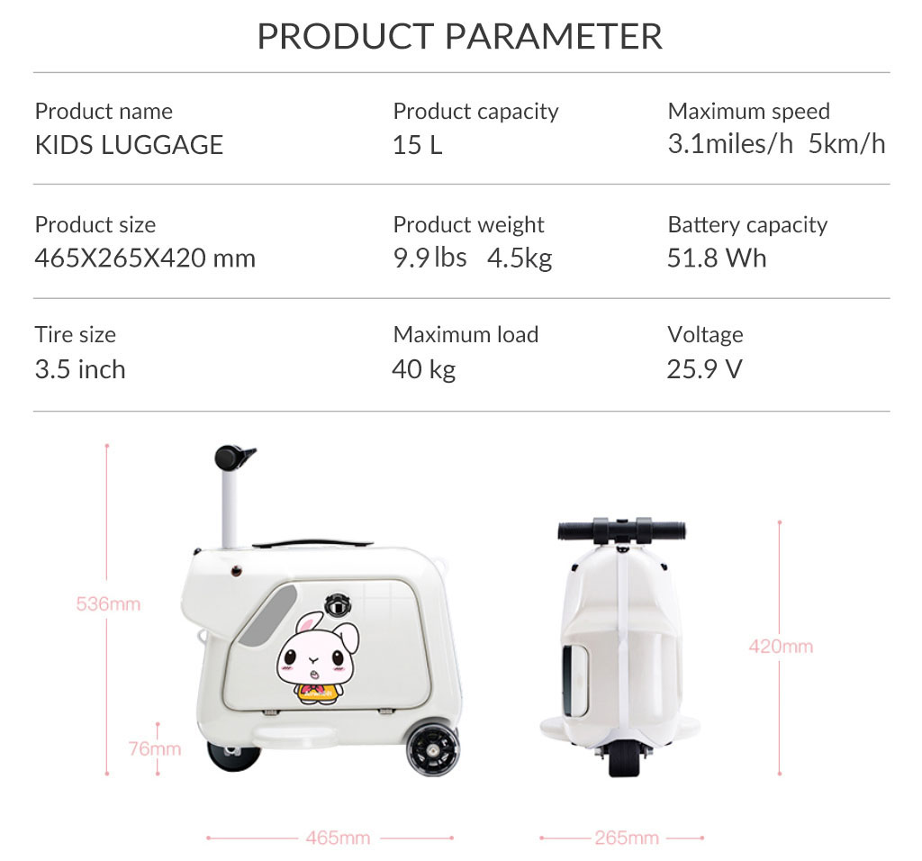 Airwheel SQ3 Kids carry on suitcase